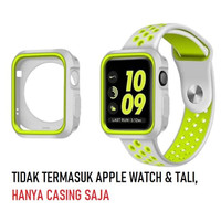 Rugged Armor Silicon Case Apple Watch 42mm Seri 1/2/3 - Silver Kuning