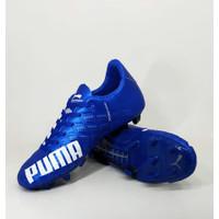 Sepatu bola puma evospeed biru bahan import / Sepatu sepak bola murah