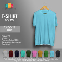Kaos Polos Baju Pria Kaos Pria Premium Lengan pendek TURQOISE BLUE