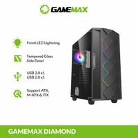 GAMEMAX Black Diamond ATX Gaming PC Case