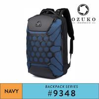 Tas Backpack Pria Ozuko 9348 Daypack Anti air Tas Ransel Pria - Biru