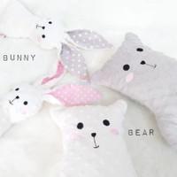Boneka Bunny, Bear, Giraffe Baby Loop Minky Doll