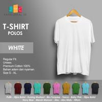 Kaos Polos Baju Pria Kaos Pria Premium Lengan pendek KAOSLOKAL WHITE
