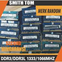 RAM laptop / SODIMM DDR3 2GB PC3-10600s / PC 10600 / 1333 Mhz murah