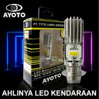 Lampu depan led motor AYOTO M2A H6 AC DC motor matic bebek socket H6