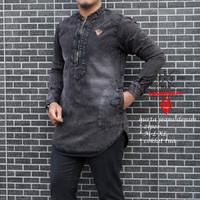 Baju Koko Qurta modern / Kemko Kaos Hijrah / Pakaian Haji dan Umroh