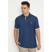 Jack Nicklaus Roscos Polo Shirt Pria Regular Fit Biru