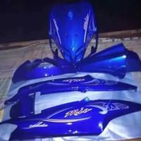cover body full halus mio mx sporty biru + striping