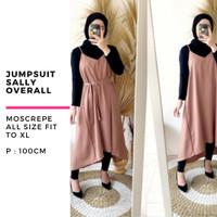 Baju jumpsuit playsuit overall wanita sally terbaru murah