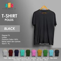Kaos Polos Baju Pria Kaos Pria Premium Lengan pendek KAOSLOKAL BLACK