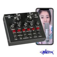 Smartfish Sound Card V8 Mixer Audio SoundCard Untuk Live Windows Mac