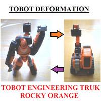 Mainan Anak Robot Tobot Athlon ENGINEERING TRUK (ROCKY ORANGE)