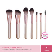 Jacquelle Bronze Copper Brush Set - Set Kuas Kecantikan isi 7