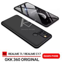 Case REALME 7i C17 Hardcase GKK 360 Original Full Protection - Hitam