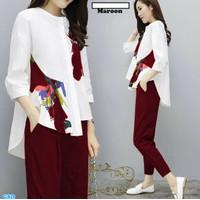Stelan Beatrice/Baju Fashion Korean Style Cewek/Set Baju Casual Wanita
