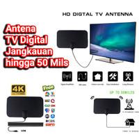 ANTENA TV DIGITAL INDOOR DVB-T2 4K HIGH GAIN PENANGKAP SIARAN TELEVISI