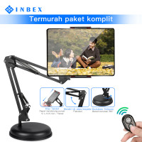 INBEX 10.5 Inch Tablet Holder+Bluetooth/Lazypod Phone Stand Cantilever