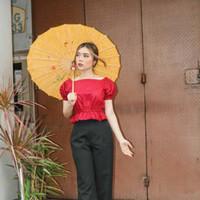 Cheongsam Blouse Top Baju Wanita Imlek Chinese New Year 1908