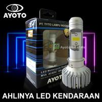 Lampu motor matic/bebek LED AYOTO M1A socket H6/T19 arus AC/DC putih