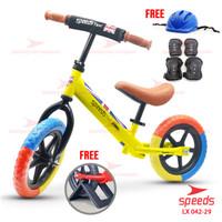 Sepeda Anak Sepeda Mini SPEEDS Taxi Balance Bike Kick Bike 042-28 - Kuning -29