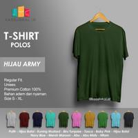 Kaos Polos Baju Pria Kaos Pria Premium Lengan pendek HIJAU ARMY