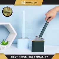 Sikat Pembersih Toilet Wc Bahan Silikon Fleksibel