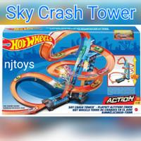 Hot Wheels Track Sky Crash Tower Trackset Mainan Trek Mobil Balap