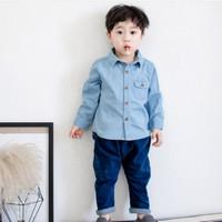 Kemeja Denim Anak Laki-Laki Cowok Denim Shirt Kid
