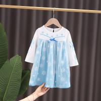 Dress Kostum Lengan Panjang Anak Bayi Princess Frozen Elsa Import2T-6T
