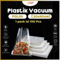 Plastik Vacum Sealer Makanan Plastic Vacuum Bag Vakum 20x30 cm POLOS