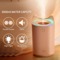 Air Humidifier Aroma Therapy 3000ml Aromaterapi Air diffuser Oil