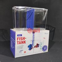 MINI FISH TANK PRESISI aquarium Soliter cupang sekat akrilik bening