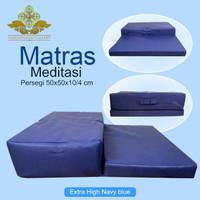 Matras/Bantal/Alas Meditasi (Bantal Doa) Persegi Extra High Navy Blue