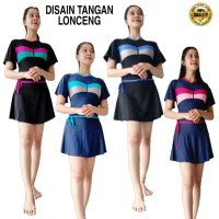 Baju renang dewasa baju diving (Lapisan CUP BH)baju renang rok baju re