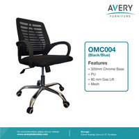 Avery Furniture - Kursi Kantor / Kursi Putar / Kursi Office OMC004 - Hitam