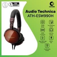 Audio Technica ATH-ESW990H Portable Wooden On Ear Headphone