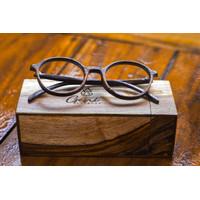kacamata kayu bulat boboho kode 23233 free lensa - paket lensa