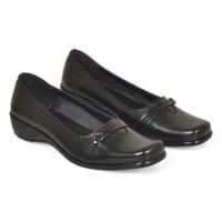 Flat Shoes Pantofel Kulit Asli - Sepatu Formal Wanita Kantor Guru CR6