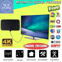 Antena TV Digital 4k Up to 50Miles Portable Sinyal LED Receiver HD UHF