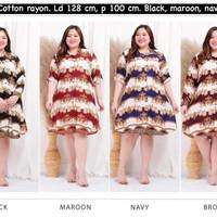 Tunik Wanita Rayon Motif Sultan size XXXL LD128cm