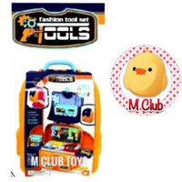 Mainan Tas set alat tukang Backpack toys tool set Happy time 2in1