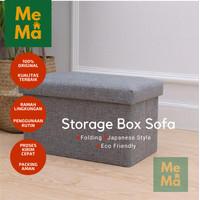 Storage Stool Sofa Lipat Box Container untuk Kotak Penyimpanan Barang - Medium Size