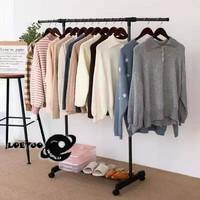 Stand Hanger Rack Jemuran Rak besi Stainless Gantungan Baju X11