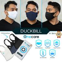 Masker Duckbill Kain 3 ply earloop Onecare SNI