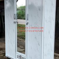 lemari pakaian 3 pintu alumunium ACP HANYA PALEMBANG
