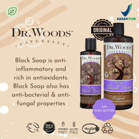 DR WOODS RAW BLACK SOAP ORGANIC SHEA BUTTER 8OZ dr bronner - Coconut