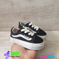 Sepatu Bayi Balita - Vans Baby OG Oldskool Black White Tali Size 16-20