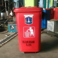 Tong / Tempat / Bak Sampah Roda ( 90ltr )