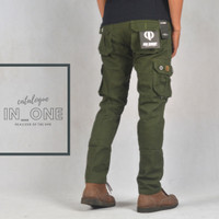 Celana panjang Cargo pants ijo army original IN-ONE