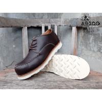Sepatu Redwings Pendek Arboo Boots Safety Pria Ujung Besi Kulit Asli